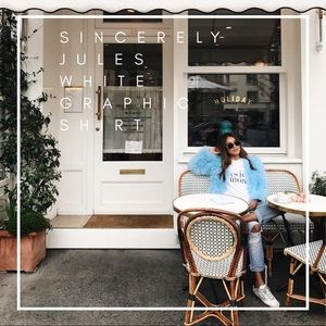 Sincerely Jules 'Yes Is More' White Graphic Tee